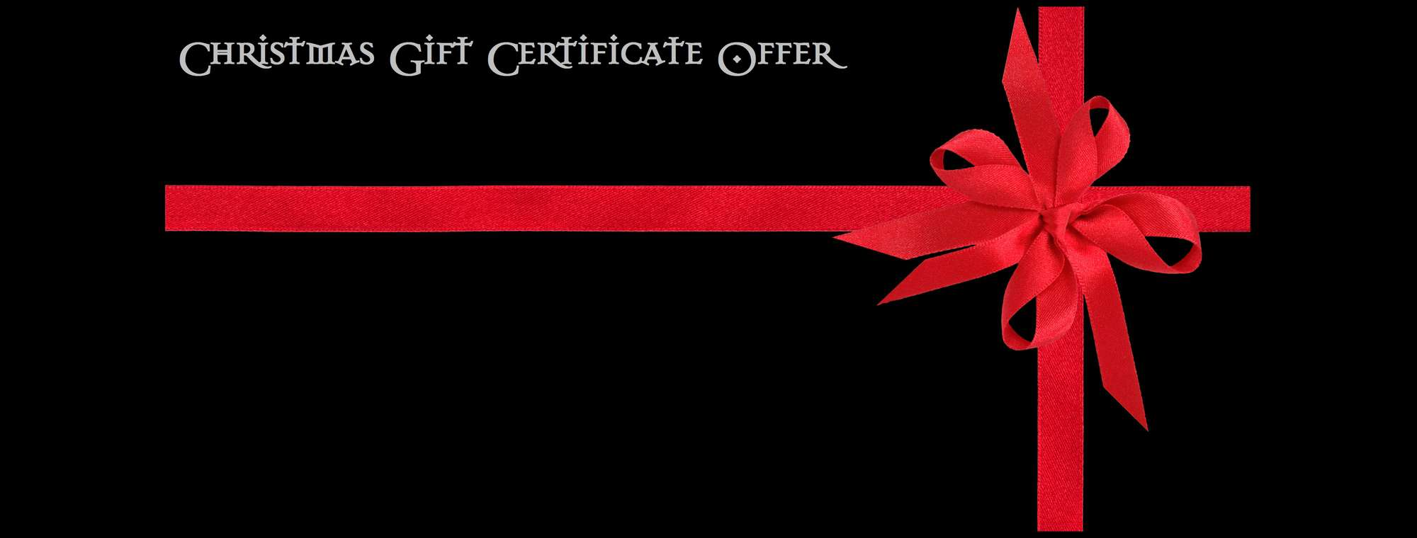 Xmas Gift Certificate Offer!